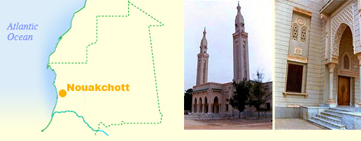 nouakchott map and image